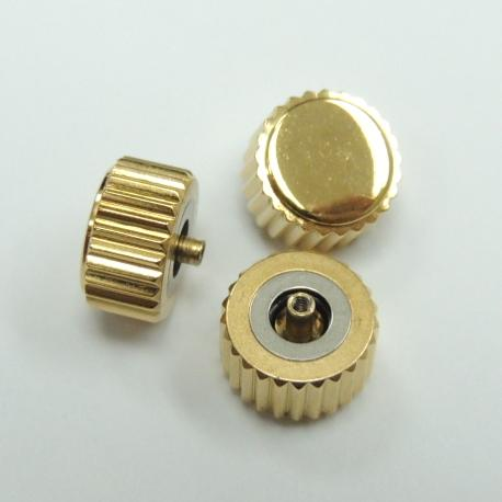 Diameter 7.5mm x Tube 2.5mm Gold Medium Post Waterproof Crown (Packing of 3 pcs)