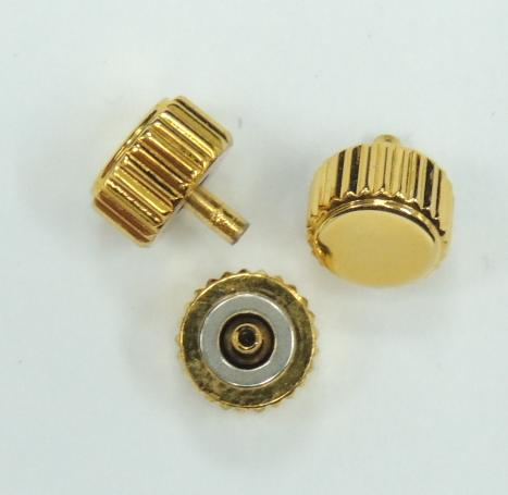 Diameter 7.5mm x Tube 2.5mm Gold Long Post Waterproof Crown (Packing of 3 pcs)