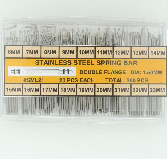 Stainless Steel Double Flange Spring Bar Assortment 1.50 MM Diameter