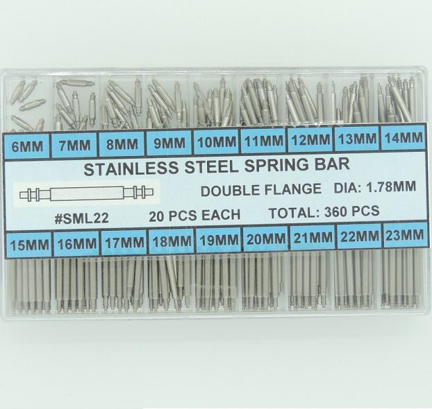 Stainless Steel Double Flange Spring Bar Assortment 1.78 MM Diameter