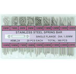 Stainless Steel Single Flange Spring Bar Assortment 1.50 MM Diameter