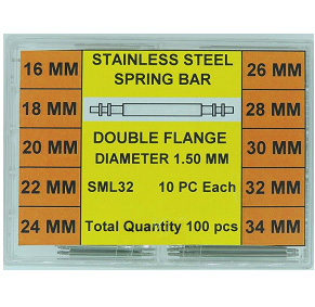 Larger Sizes Stainless Steel Double Flange Spring Bar Assortment 1.50 MM Diameter